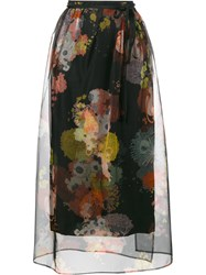 Dries Van Noten Shiller Floral Print Skirt Black