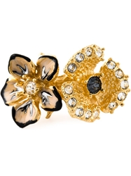 Alexander Mcqueen Cherry Blossom Two Flowers Ring