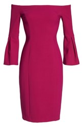 Vince Camuto Women's Off The Shoulder Bell Sleeve Sheath Dress Orchid