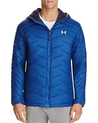 Under Armour Cold Gear Reactor Hooded Jacket Heron Midnight Navy Overcast Gray