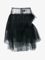 Simone Rocha Tiered Tulle Skirt Black White