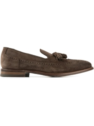 Henderson Fusion Brogue Detail Loafers Brown