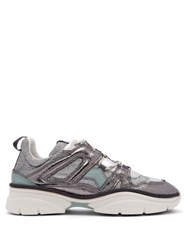 Isabel Marant Kinsay Metallic Low Top Trainers Silver
