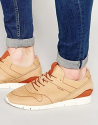 Jack And Jones Jack And Jones Robson Leather Trainers Beige