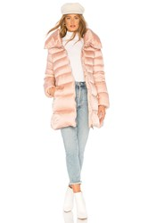 Add Hooded Short Down Coat Rose