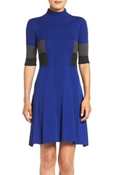 Adrianna Papell Women's Colorblock Fit And Flare Dress Night Fever Multi