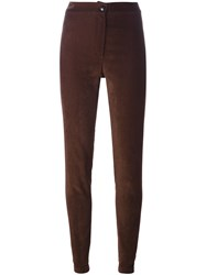 Ann Demeulemeester Stretch Skinny Trousers Brown