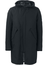 Herno Padded Lining Hooded Parka Blue