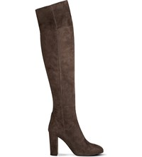 Lk Bennett Kaelynn Suede Over The Knee Boots Gry Charcoal