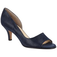 Peter Kaiser Jamala Asymmetric Peep Toe Sandals Navy