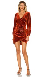 The Jetset Diaries Lash Out Mini Dress In Orange. Copper