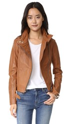 Mackage Hania Leather Jacket Cognac