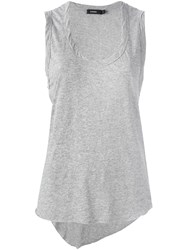 Bassike Scoop Neck Tank Top Grey