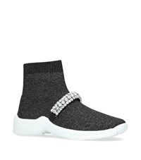 Kurt Geiger Embellished Linford Sock Sneakers Grey