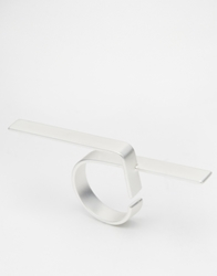 Weekday Code Bar Ring Silver