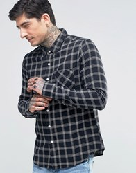 Another Influence Checked Flannel Shirt Black