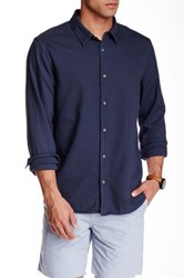 Save Khaki Overdyed Oxford Simple Classic Fit Shirt Blue
