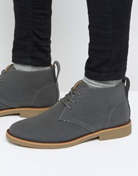 New Look Faux Suede Desert Boot In Grey Grey Black