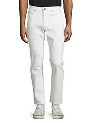 Buffalo David Bitton Skinny Fit Cotton Pants White