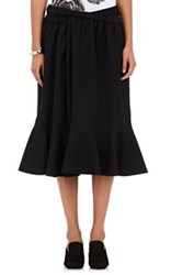 Comme Des Garcons Tricot Women's Cotton Wool Wrap Style Skirt Black