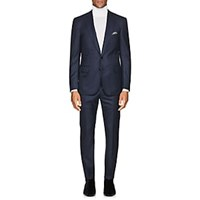 Cifonelli Neat Wool Two Button Suit Blue