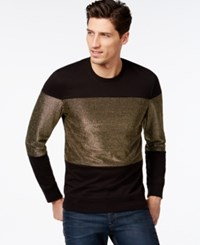 Inc International Concepts Gilded Crew Neck Pullover Sweatshirt Only At Macy's