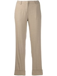Cambio Cropped Leg Trousers Neutrals