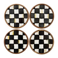 Mackenzie Childs Courtly Check Coasters Set Of Four