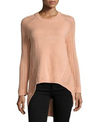 Elliatt Landforms Woven Knit Sweater Light Pink