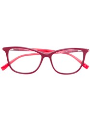 Lacoste Square Shaped Glasses Acetate Red