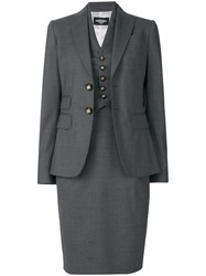 Dsquared2 Classic Skirt Suit Grey