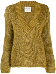 Forte Forte Oro Chunky Knit Jumper Gold