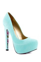 Taylor Says Calico High Heel Platform Pump Blue