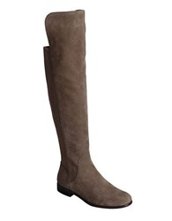 Corso Como Larissa Leather Over The Knee Boots Taupe