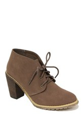 Restricted Petal Lace Up Bootie Gray