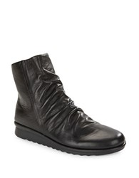 The Flexx Pan Fried Leather Ankle Boots Black