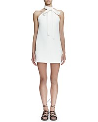 Chloe Halter Tie Neck Sheath Dress Milk