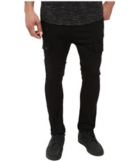 Publish Angus Stretch Twill Drop Stack Fit Cargo Pants Black Men's Casual Pants