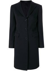 Tagliatore Single Breasted Coat Women Virgin Wool 38 Black