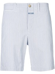 Closed Striped Shorts Blue