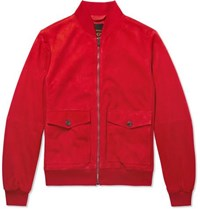 Tod's Suede Blouson Jacket Red