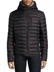 Moose Knuckles Quilted Down Reversible Jacket Black