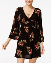 American Rag Floral Print Fit And Flare Dress Only At Macy's Classic Black