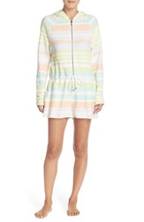 Women's Mara Hoffman Hooded Stripe Cotton Cover Up Romper