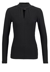 Ichi Lima Long Sleeved Top Black