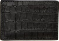 Alexander Wang Black Croc Embossed Card Holder