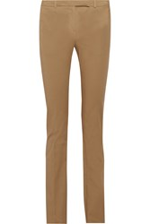 Belstaff Derby Classic Stretch Cotton Straight Leg Pants Brown