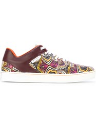 Etro Printed Lowtop Sneakers Men Leather Polyamide Rubber 40