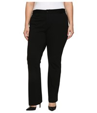 Nydj Plus Size Teresa Modern Trousers In Knit Twill In Black Black Women's Casual Pants