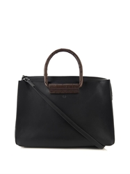 The Row Satchel Smooth Leather And Ostrich Tote